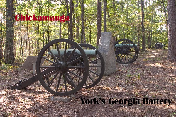 York's Battery, CSA at Chickamauga, Georgia, September 20, 1863. Chickamauga and Chattanooga National Military Park