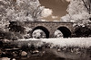 Stone Bridge crosses Bull Run in the Manassas National Battlefield Park in Manassas, Virginia. It was destroyed during the Battle of First Manassas on July 21, 1861, the first major land battle of the American Civil War.