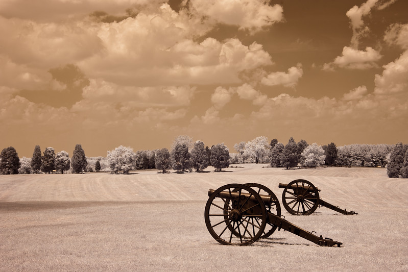 This is the location where Stonewall Jackson earned his nickname.Manassas Battlefield taken with my infrared converted digital camera.