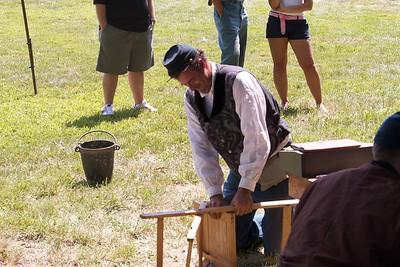 Bill breaks the chair