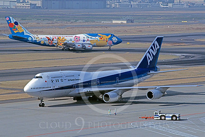 B747 00037 Boeing ANA Airline 30 December 1999 by Stephen W D Wolf