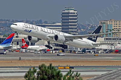 B777P 00044 Boeing 777 ANA Airline STAR ALLIANCE JA73IA at LAX by Tim Wagenknecht