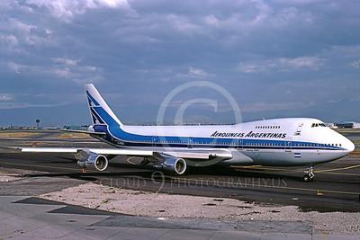 B747 00043 Boeing 747 Aerolineas Argentinas LV-MLO April 1996 by Peter J Mancus