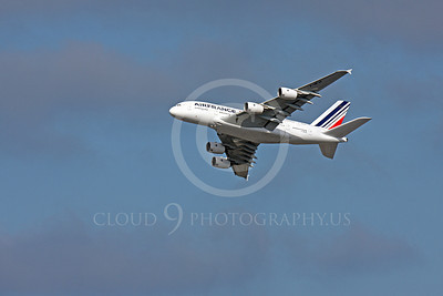 A380 00036 A flying Air France Airbus A380 F-HPJA airliner picture, by Peter J Mancus