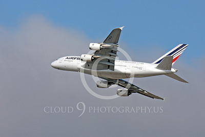 A380 00176 A flying Air France Airbus A380 F-HPJA airliner picture, by Peter J Mancus
