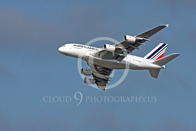 A380 00164 A flying Air France Airbus A380 F-HPJA airliner picture, by Peter J Mancus