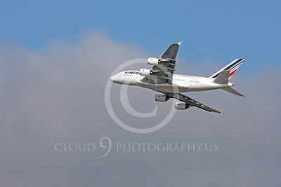A380 00056 A flying Air France Airbus A380 F-HPJA airliner picture, by Peter J Mancus