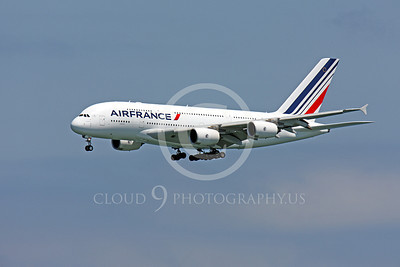 A380 00090 A flying Air France Airbus A380 airliner picture, by Peter J Mancus