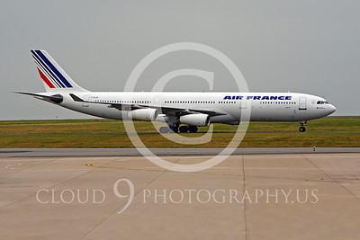 A340 00103 Airbus A340 Air France F-GLZH by Peter J Mancus