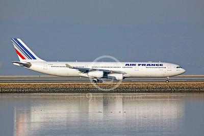 AIRBUS A340 00033 AIRBUS A340 AIR FRANCE F-GL70 by Peter J Mancus