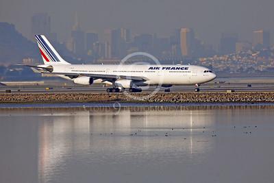 AIRBUS A340 00003 AIRBUS A340 AIR FRANCE F-GL70 by Peter J Mancus