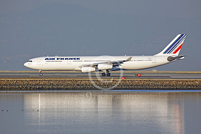AIRBUS A340 00061 AIRBUS A340 AIR FRANCE F-GL70 by Peter J Mancus
