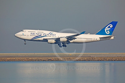 B747 00138 Boeing 747 Air New Zealand ZK-NBS by Peter J Mancus