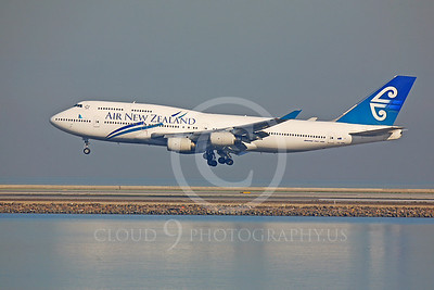 B747 00086 Boeing 747-400 Air New Zealand ZK-NBS by Peter J Mancus