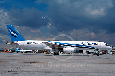 B757 00015 Boeing 757 Air Slovakia OM-DGK May 2004 via African Aviation Slide Service