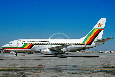 B737 00161 Boeing 737 Air Zimbabwe Airline Z-WPB June 2004 via African Aviation Slide Service