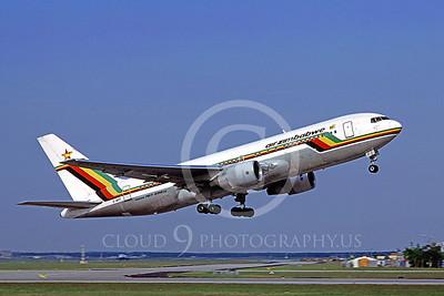 B767 00028 Boeing 767-200 Air Zimbabwe Z-WPF 5 April 1998 by Mathias Becker