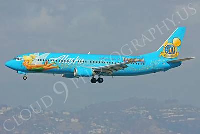 B737 00050 Boeing 737 Alaska N791AS Tinkerbelle by Peter J Mancus