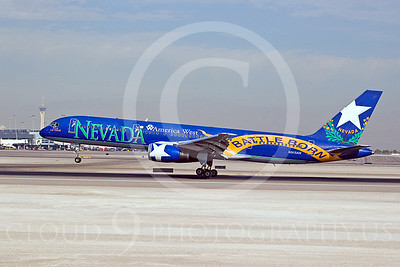 B757 00005 Boeing 757 America West Battle Born N915AW by Dave Budd