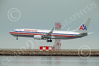 Boeing 737 00210 An American Airline Boeing 737 N912NN on final approach to land at SFO 12-2014 airliner picture by Peter J Mancus