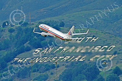Boeing 737 00190 An American Airline Boeing 737 after taking off from SFO 12-2014 airliner picture by Peter J Mancus