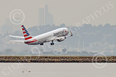 Boeing 737 00207 An American Airline Boeing 737 takes off from SFO 12-2014 airliner picture by Peter J Mancus