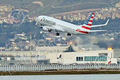Boeing 737 00201 An American Airline Boeing 737 N961NN climbs out from SFO after taking-off 12-2014 airliner picture by Peter J Mancus