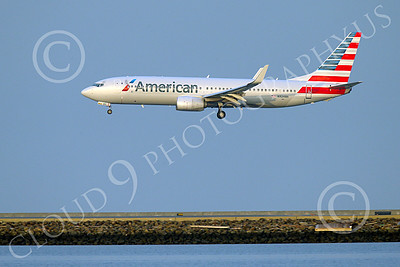 Boeing 737 00204 An American Airline Boeing 737 N924NN on final approach to land at SFO 12-2014 airliner picture by Peter J Mancus