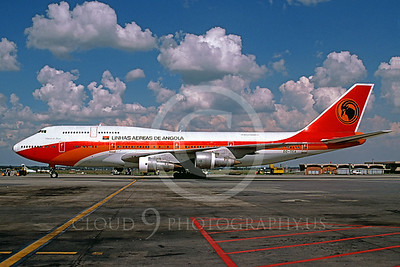 B747 00045 Boeing 747 Angloa Airline D2-TEA March 2004 via African Aviation Slide Service