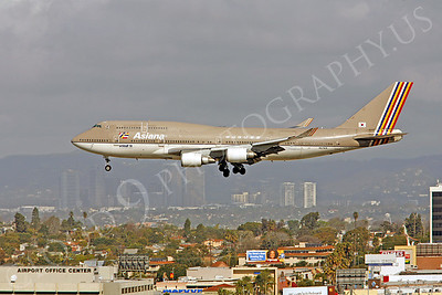 B747 00054 Boeing 747-400 Asiana Airline HL7414 by Peter J Mancus