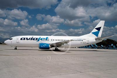 B737 00047 Boeing 737 Avia Jet TF-ELP via African Aviation Slide Service