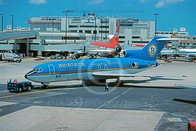 B727 00117 Boeing 727 Aviateca TG-AYA July 1989 via African Aviation Slide Service