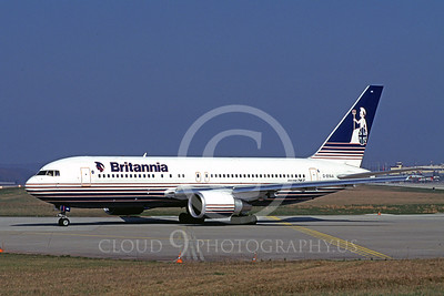 B767 00007 Boeing 767 Britania 13 March 1997 by Peter J Mancus