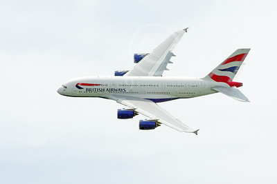 A380 00248 A flying British Airways Airbus A380 F-WWSK super jumble jet airliner airliner picture by Stephen W D Wolf