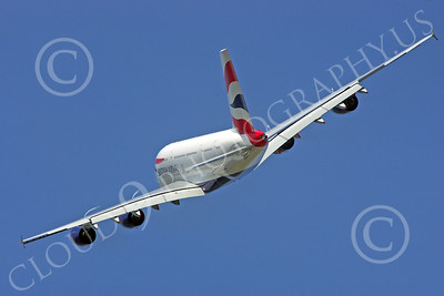 A380 00246 A flying British Airways Airbus A380 F-WWSK super jumble jet airliner airliner picture by Stephen W D Wolf