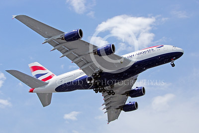 A380 00098 A landing British Airways A380 F-WWSK super jumble jet airliner 2013 airliner picture by Stephen W D Wolf
