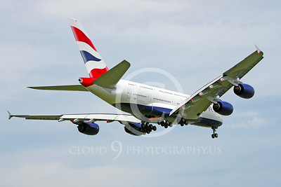 A380 00100 A rear view of a landing British Airways A380 F-WWSK super jumble jet airliner 2013 airliner picture by Stephen W D Wolf