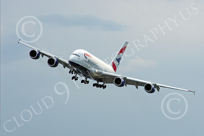 A380 00218 A landing British Airways Airbus A380 F-WWSK super jumble jet airliner airliner picture by Stephen W D Wolf