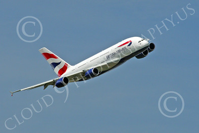 A380 00244 A flying British Airways Airbus A380 F-WWSK super jumble jet airliner airliner picture by Stephen W D Wolf