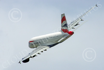 A380 00242 A flying British Airways Airbus A380 F-WWSK super jumble jet airliner airliner picture by Stephen W D Wolf