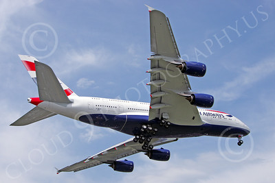 A380 00188 A landing British Airways Airbus A380 F-WWSK super jumble jet airliner airliner picture by Stephen W D Wolf