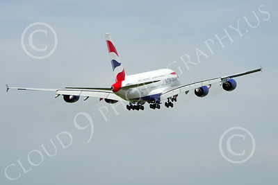 A380 00220 A climbing out British Airways Airbus A380 F-WWSK super jumble jet airliner airliner picture by Stephen W D Wolf