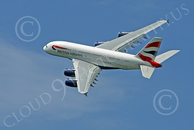 A380 00186 A flying British Airways Airbus A380 F-WWSK super jumble jet airliner airliner picture by Stephen W D Wolf