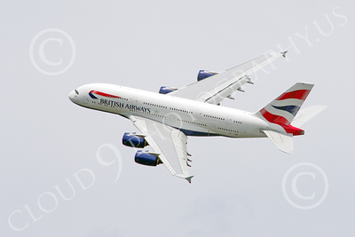 A380 00082 A flying, banking British Airways A380 super jumble jet airliner 2013 airliner picture by Stephen W D Wolf