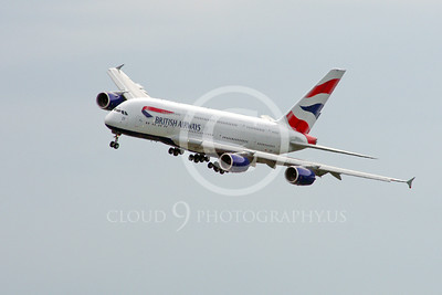 A380 00114 A landing British Airways A380 F-WWSK super jumble jet airliner 2013 airliner picture by Stephen W D Wolf