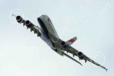 A380 00194 A flying British Airways Airbus A380 F-WWSK super jumble jet airliner airliner picture by Stephen W D Wolf