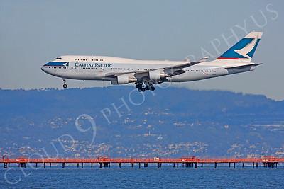 B747 01260 Boeing 747 Cathay Pacific B-HKV by Peter J Mancus