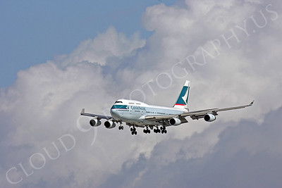 B747 00090 Boeing 747 Cathay Pacific Airline by Peter J Mancus