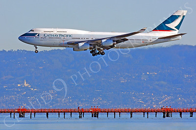 B747 01085 Boeing 747 Cathay Pacific B-HOR by Peter J Mancus