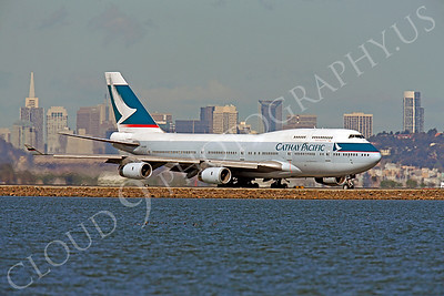B747 00597 Boeing 747 Cathay Pacific B-HOR by Peter J Mancus